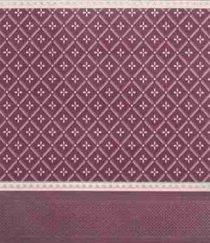 "Wallpaper - 10"" HIGH wall - Pale gold diamond pattern on burgundy background with pale gold borders."