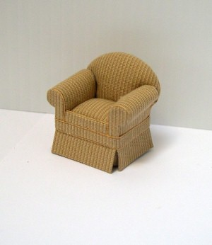 24th scale butternut armchair