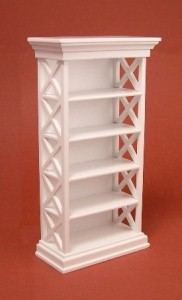 24th scale white bookshelf
