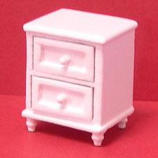 24th scale white nightstand