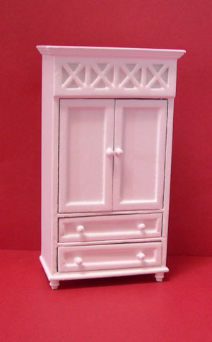 24th scale white armoire
