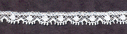 "French lace ¼""  (6.5 mm) wide - white"