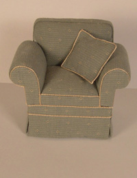 Cara green armchair