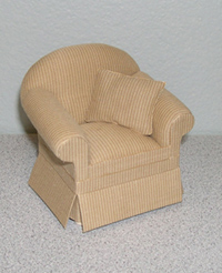 12th scale Ashley butternut chair