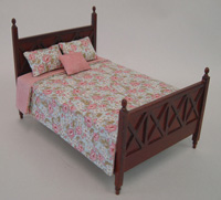 Ashley bed (with bedding) - spice