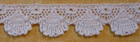 "Scalloped lace ½"" (12mm) wide - ecru"