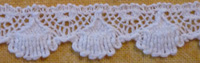 "Scalloped lace ½"" (12mm) wide - white"