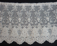 "Nylon pleated lace 4"" ecru"