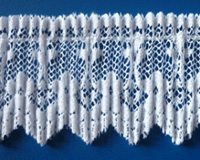 "Nylon pleated lace 1¾""  white"