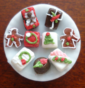 Christmas biscuits on plate