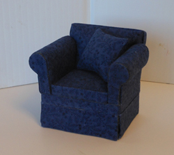 Cara navy and black chair