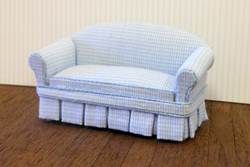 24th scale Hanna Blue Sofa