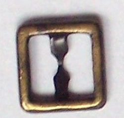 8mm square buckle - antique gold