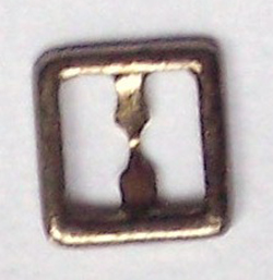 8mm square buckle - antique silver