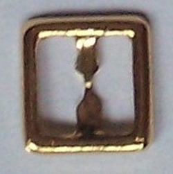8mm square buckle - gold