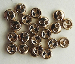 3mm metal buttons - gold