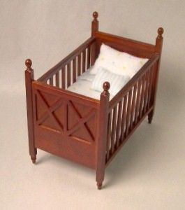 Ashley spice cot - blue bedding