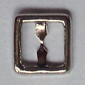 8mm square buckle - silver