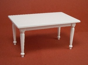 24th scale white rectangular table