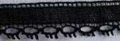 "French Lace 3/8"" wide (9.5mm) - black"