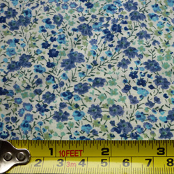 100% cotton Liberty Phoebe tana lawn - blue