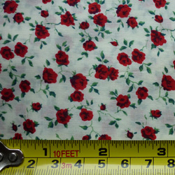 100% cotton Liberty Nina tana lawn - red