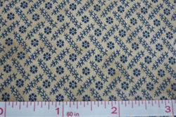 "Cotton floral pattern ""shabby chic"" fabric"