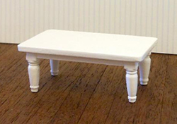 24th scale White coffee table