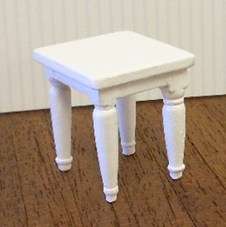 24th scale white end table