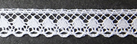 French cotton lace, 9mm wide - white