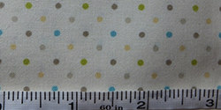 100% cotton multi-dot fabric