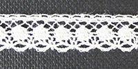 French cotton lace, 9mm wide - ivory