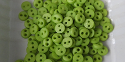 4mm buttons - lime