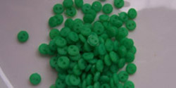 4mm buttons - bright green