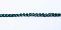 Rayon plaited braid - hunter green