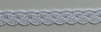 "Nylon angel lace, 1/4"" wide (6.4mm) - white"