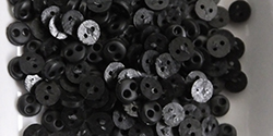 4mm buttons - black