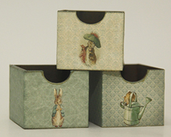 Set of three Beatrix Potter crates - green (kit)