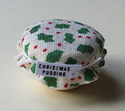 Christmas pudding with covered top
