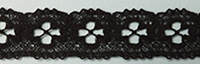 English lace, black, 15mm wide