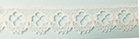 English lace, white, 15mm wide