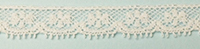 French Valenciennes lace, 11mm wide, white