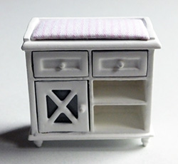 24th scale Ashley white changing table